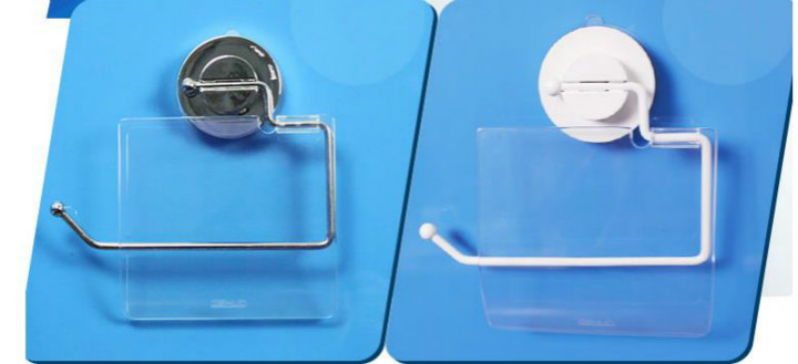 Stainless Steel Suction Cup Toilet Paper Roll Holder Waterproof Tissue Organizer Bathroom Hardware Installation in Storage Holders Racks from Home Garden