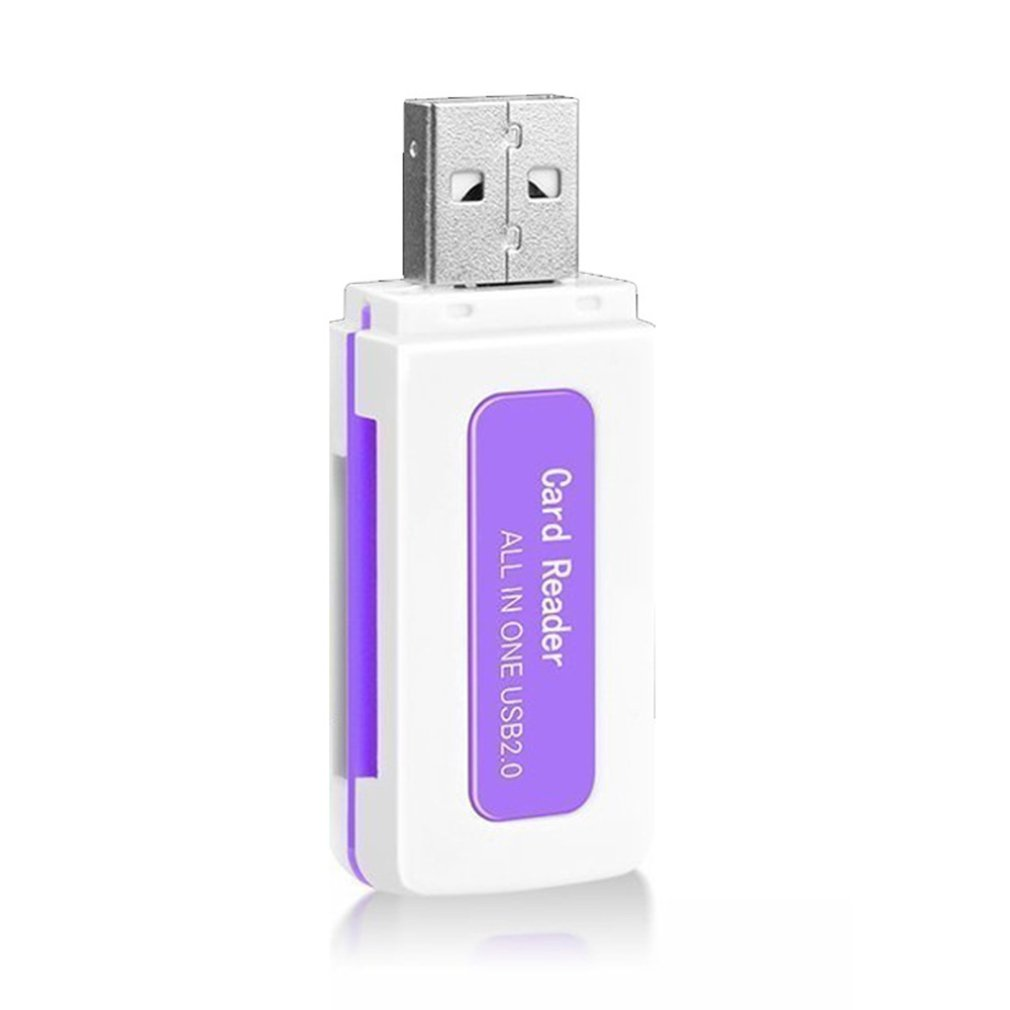 Colorful Jade High-Speed Card Reader 4 In 1 Multi-Function Sdtf M2 Ms Card Reader Universal Card Reader Gift