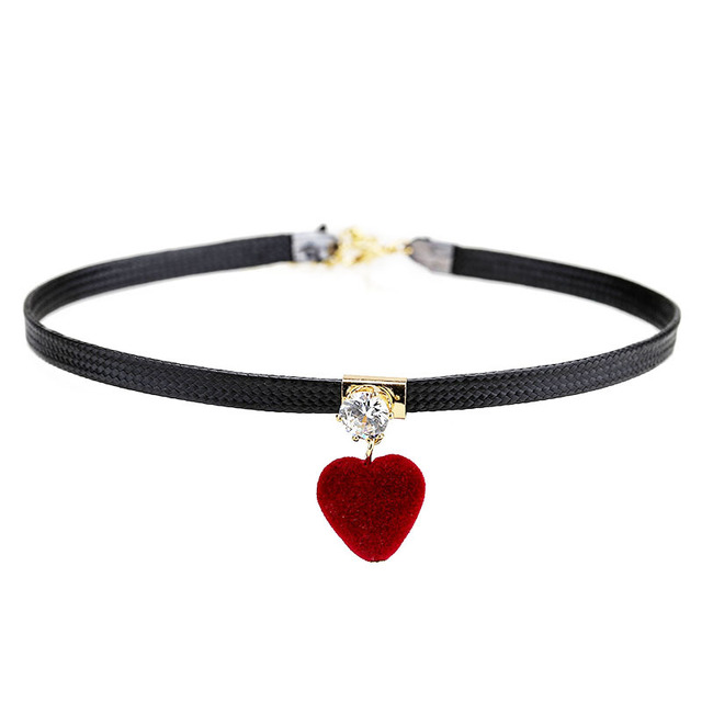 ZIRIS South Korea's heart-shaped collarbone chain harajuku neck ornaments Simple Choker Necklace women holiday gift