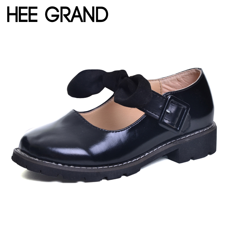 HEE GRAND Spring Platform Women Pumps With Bowtie Patent Leather Shoes Woman Round Toe Slip On Loafers Ladies Footwear XWD5975 hee grand spring platform women pumps with bowtie patent leather shoes woman round toe slip on loafers ladies footwear xwd5975