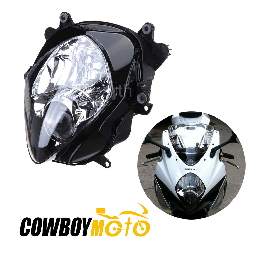 Crystearth Motor Headlight Front Head Light Lamp Headlamp Assembly For Suzuki GSXR1000 GSXR 1000 2007 2008 K7 K8 DC 12