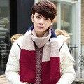 Men's scarf knitting wool scarves cachecol British students bandanas hijab foulard echarpe