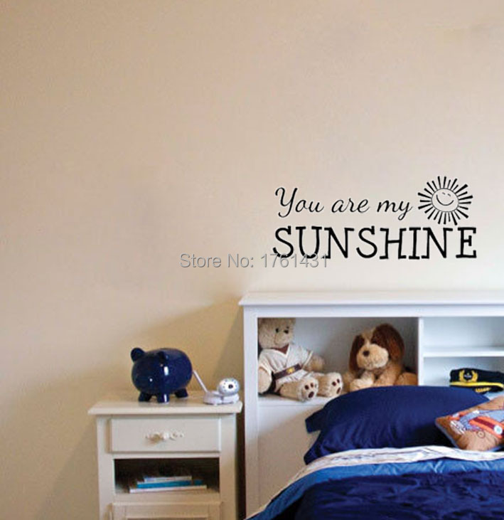 Sunshine Quotes PromotionShop For Promotional Sunshine Quotes On - Wall decals you are my sunshine