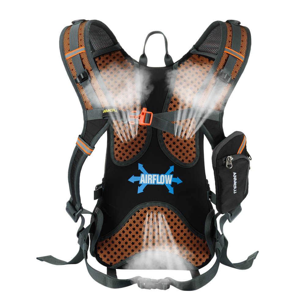 18L Pria Wanita Tas Luar Ruangan Climbing Rucksack Naik Bersepeda Ransel Hiking Olahraga Ransel Hidrasi Air Tas + Rain Cover