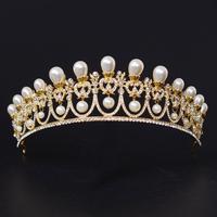 Korean Pearl Crystal Crown Princess Bride Wedding Wedding Dress Photo Studio Hair Accessories