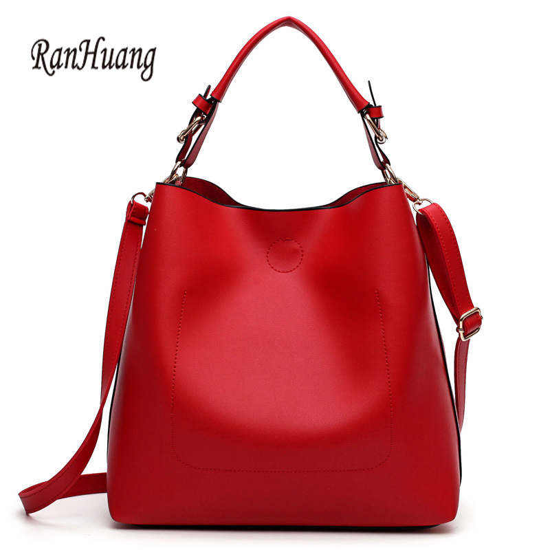 RanHuang New Arrive 2017 Women Fashion Messenger Bags PU Leather Bucket Bag Women's Red Shoulder Bags bolsa feminina A702 women bucket bag package fashion bolsa feminina casual soft clutch ladies leather shoulder bags tote messenger bolso mujer 2017