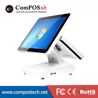 All in One Computer 15 Inch All in One Touch Screen PC With 5 wire Touch Screen Monitor And 12 Inch lcd screen For Restaurant