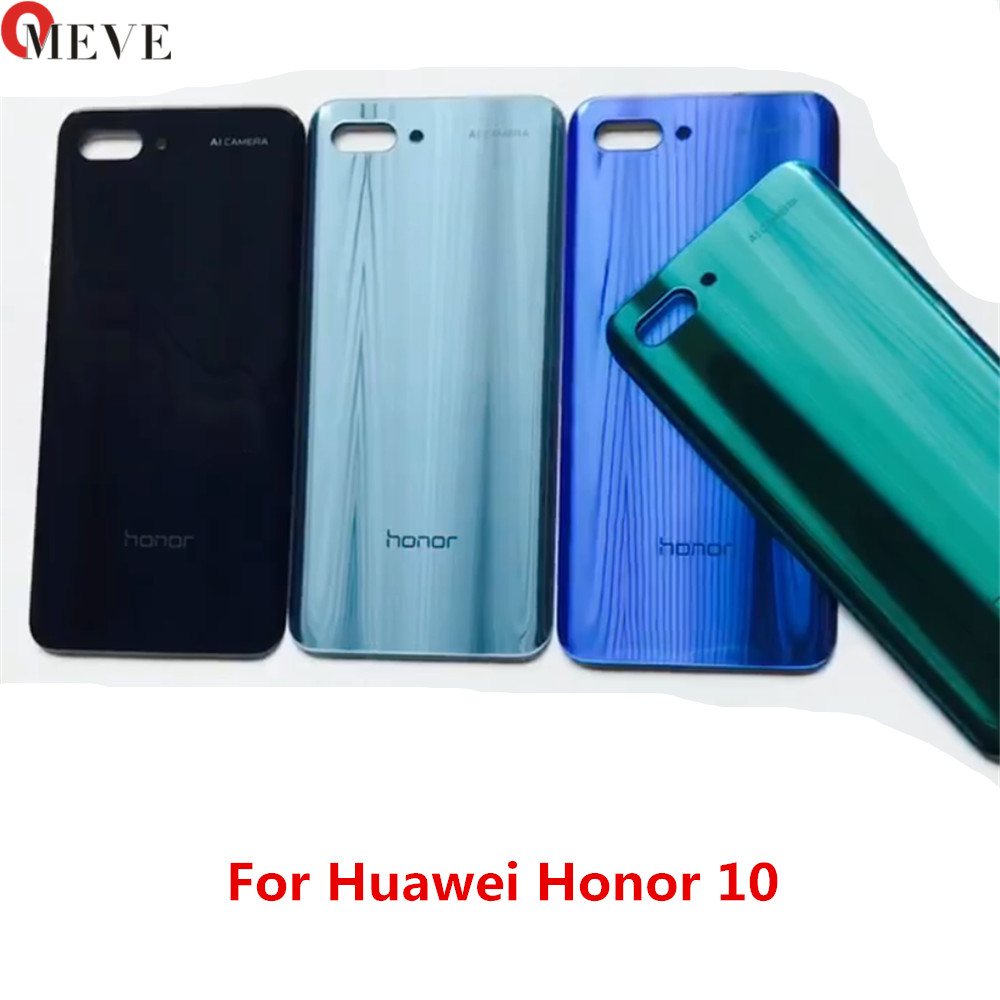 10pcs For Huawei Honor 10 Back Battery Glass Cover Panel Honor10 Rear Door Case For Huawei Honor 10 Back Cover Housing image