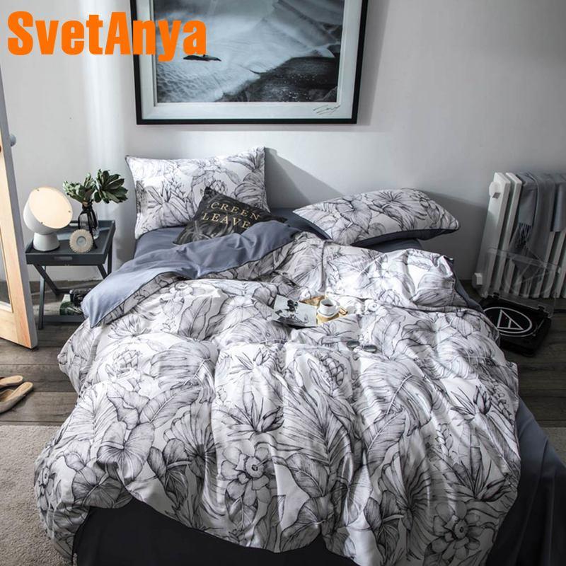 Svetanya Cotton Bedding Set gray Bedlinen king queen double sizeSvetanya Cotton Bedding Set gray Bedlinen king queen double size