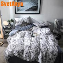 Svetanya Cotton Bedding Set gray Bedlinen king queen double size