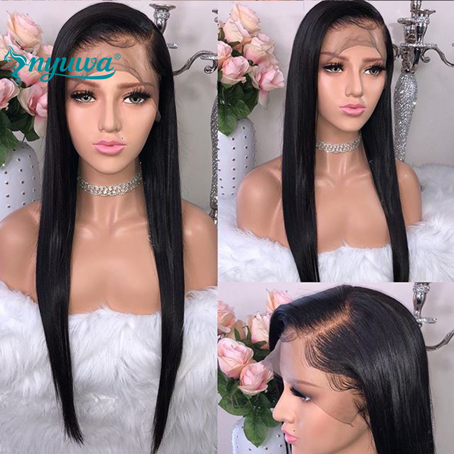 Elva Hair Straight Full Lace Human Hair Wigs For Black Women Brazilian Remy Hair Glueless Lace Wigs Pre Plucked Natural Hairline