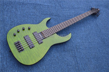 Freies Verschiffen Neue guitarraOEM e-gitarre bass gitarre shop von grün links hand fünf akkord guitarra/gitarre China