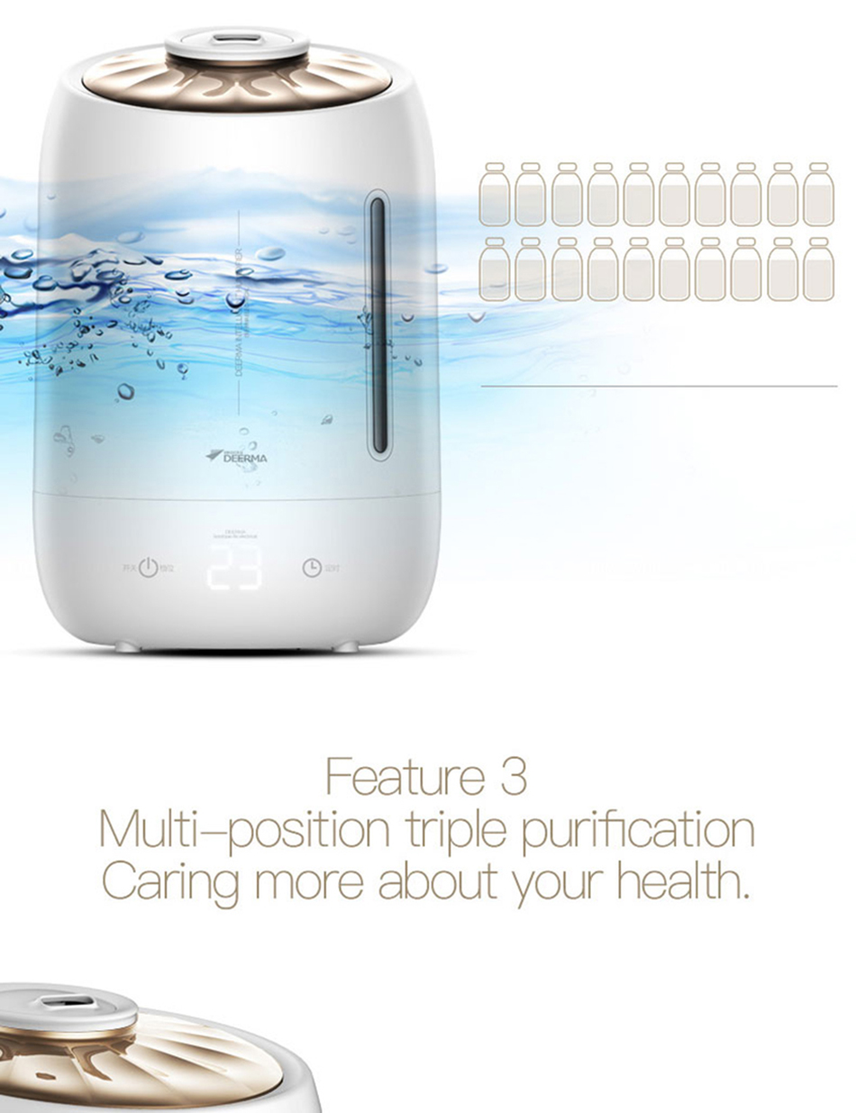 Xiaomi Mijia deerma 5L Air Home Ultrasonic Humidifier Touch Version Air Purifying for Air-conditioned rooms Office household D5 (1)
