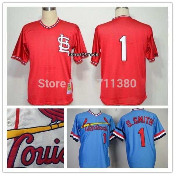 ef46265e St.Louis Cardinals throwback jersey mens 1 O.Smith jersey Retro ...