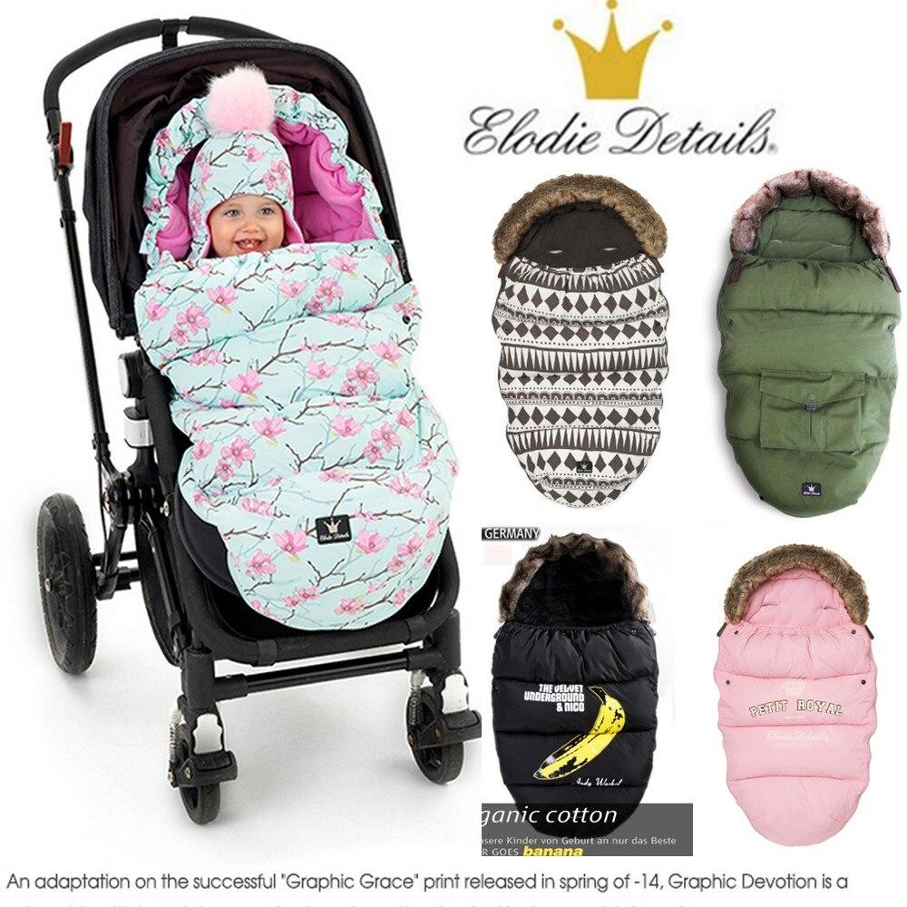 Elodie details Baby Stroller Sleeping Bag Winter Warm Sleepsacks Robe For Infant wheelchair envelopes for newborns dropship все цены