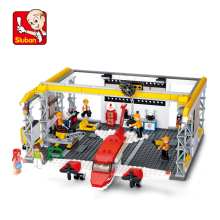 City Aircraft Repair Shop Building Blocks Sets Compatible Maintenance Platform Model Bricks Figures Toys for Children