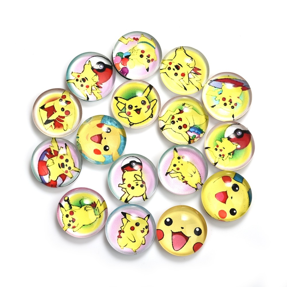 10X 12//20mm Handmade Image Photo Clock Glass Round Cabochon Dome Back Flat Cover