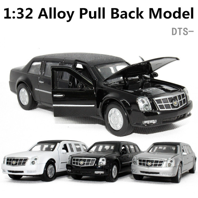 DTS Cadillac President Car, 1:32 scale Alloy Pull Back cars,Black ...