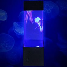 USB Battery Operated LED Aquarium Electric Tank Home Decor Jellyfish Lamp Volcano Light Stylish Bedside Nightlight Gift for Kids(China)