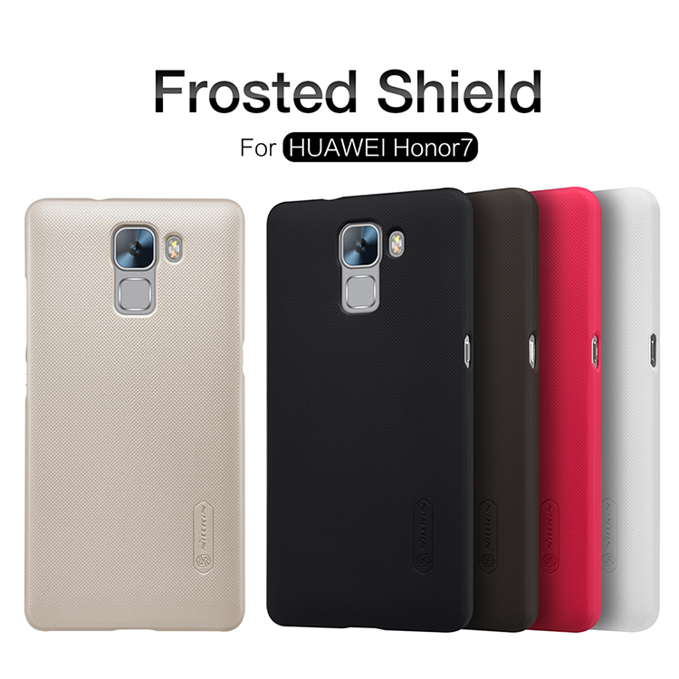 HUAWEI Honor 7 Case HUAWEI Honor 7 Cover honor7 Original NILLKIN Super Frosted Shield Back Cover Case with Free Screen Protector