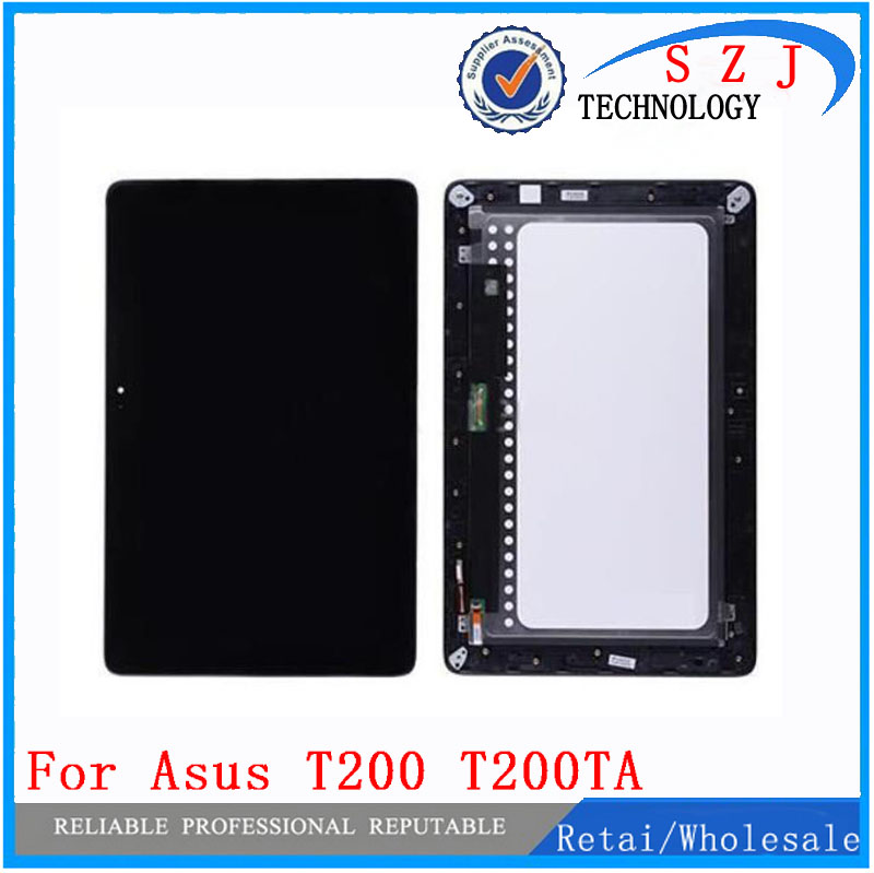 New 10.1'' inch For Asus Transformer Book T200 T200TA Full LCD Display + Touch Screen Digitizer Glass Assembly with Frame 11 6 lcd display monitor touch panel screen digitizer glass assembly with frame for asus transformer book t200 t200ta