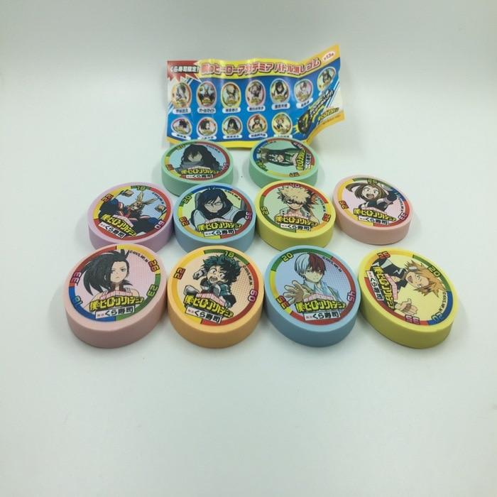 50pcs 35mm Mixed my hero academia action figure capsule ball Toy todoroki Izuku Midoriya game play card doll d11