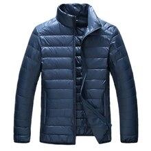 Autumn Wintet Ultralight Down Jackets 2017 Mens Stand Collar Duck Down Jakcet Light Thin Solid Casual Coat Men Outwear Plus Size
