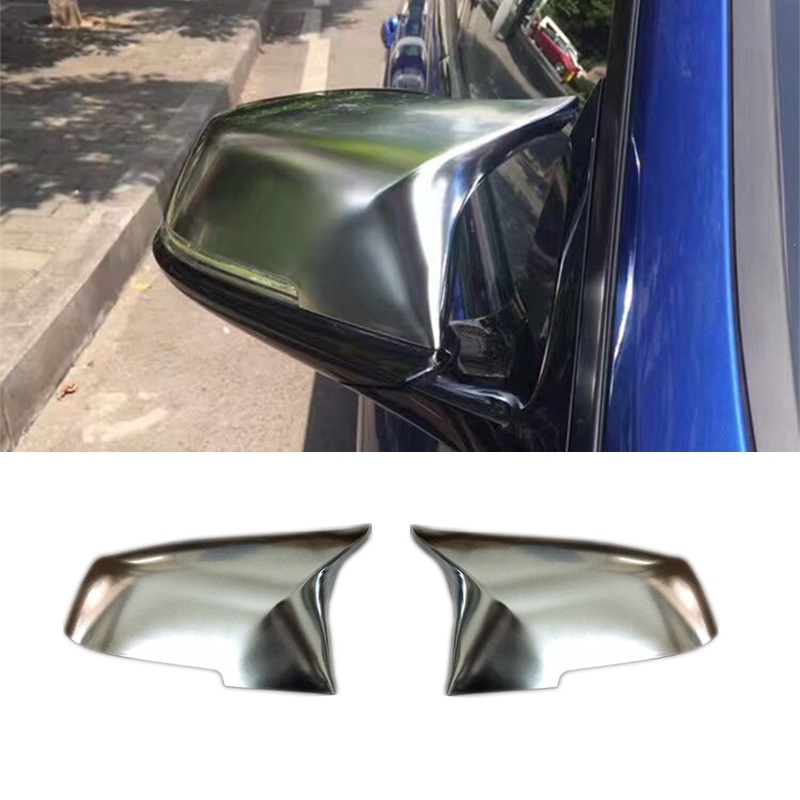For BMW 1 2 3 4 Series F20 F21 F22 F23 F30 F31 F32 X1 E84 M-look Matt Chromed Wing Mirror Cover Replacement Car Accessories m style carbon mirror cover for bmw 1 2 3 4 x serie f20 f21 f22 f23 f30 f31 f32 f33 f36 x1 e84 m3 m4 look replacement