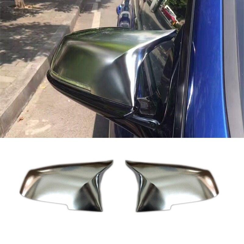 Pour BMW 1 2 3 4 Series F20 F21 F22 F23 F30 F31 F32 X1 E84 m-look mat chromé aile miroir couvercle remplacement accessoires de voiture