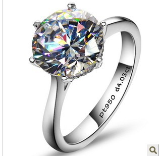 TR522 Free shipping! Luxury 4 carat 10MM Simulated Synthetic Gem rings for women exaggerated rings