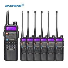 6pcs/lot portable baofeng UV5R two way radio big battery 3800mAh Dual Band UHF VHF 136-174/400-520 Mhz walkie talkie UV-5R