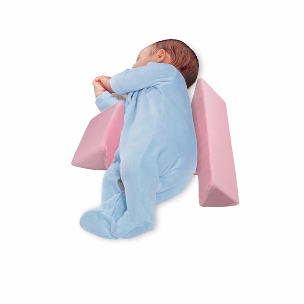 SNOWINSPRING Blau Newborn Sleep Positioner Verhindern Sie Flache Kopfform Anti-Roll-Kissen Kinder Geformtes Kopfst/üTzenkissen Stillen Posing Babykissen