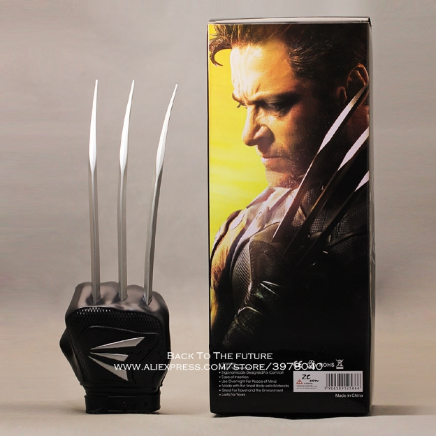 Disney X-Men Wolverine glove PVC 32cm Action Figure Posture Model Anime Decoration Collection Figurine Toys model for children mr froger x men x men action figures apocalypse chibi anime figurine pop toys for children cute doll professor x magneto models