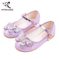 HITOMAGIC Girls Shoes Princess Children Shoes For Girls Sandals Kids Summer Footwear Wedding Pink High Heel
