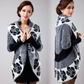 2017 NEW Women sweater Knitted cashmere coat Hollow shawl bat cardigan women's sweaters Knitted Cardigan big size Free shipping