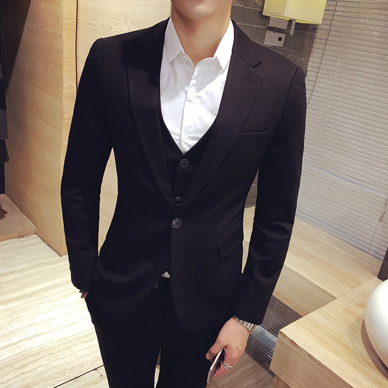 3pcs 2017 latest coat pant designs korean wedding suits for men one ...