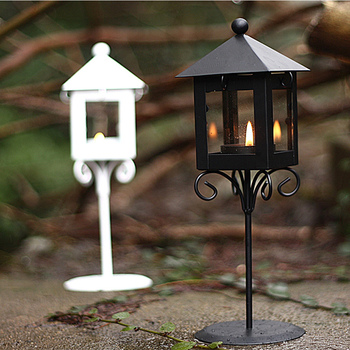 time, wrought iron hurricane lamp, candle kiosk sitting room porch home furnishing articles handicraft birthday gift