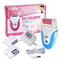 Cuidado eléctrica Pro Pedicura Pedi Foot File Kit 3 EN 1 depiladora y máquina de Afeitar Set Piel Dura de Removedor de Callos Muertas de La Piel Seca pedicura