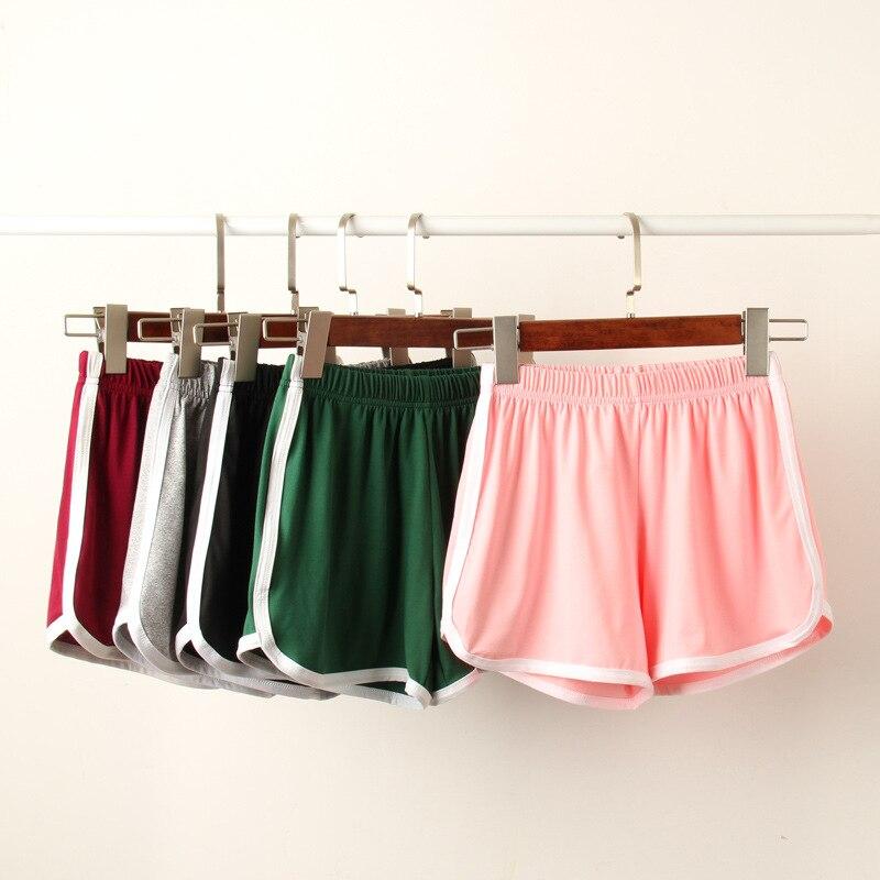 Jeseca New Causal Girls   Shorts   Female Mid Waist Loose Milk Silk Soft Summer Elastic Skinny Patchwork Women Plus Size   Shorts