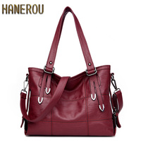 New 2017 Fashion PU Leather Women Messenger Bags Ladies Big Casual Shoulder Bags Brand Woman Handbags