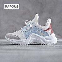 Women Sneakers Designer Casual Shoes Ladies Trends Ins Female White Flats Platform Spring Summer Lace Up Footwear Mesh Walking