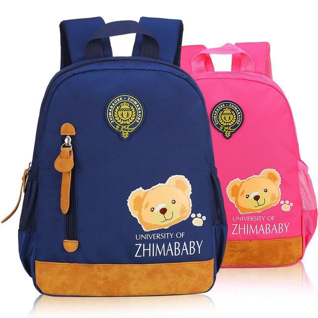 2018 Hot Fashion Children School Bags Cartoon Backpack Baby Toddler Kids Book Bag Kindergarten Boy