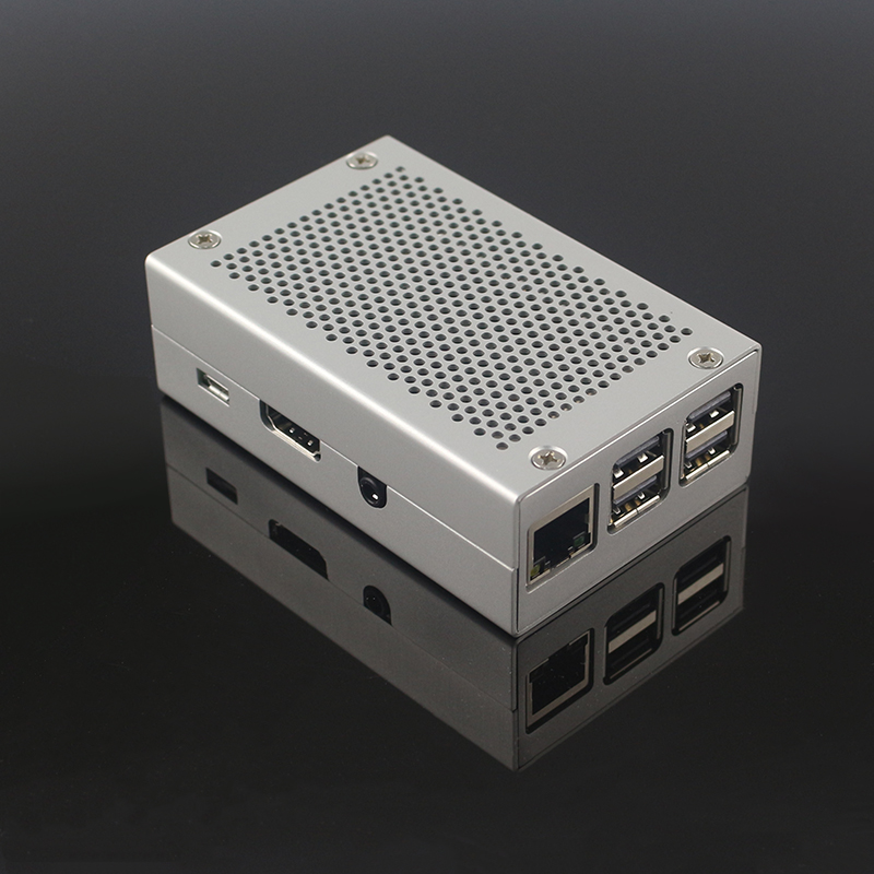 Raspberry Pi 3 Model B+ Plus Metal Case Aluminum Alloy Box Silver Color Shell compatible for Raspberry Pi 3