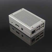 Raspberry Pi 3 Modelo B + Plus, caja de aleación de aluminio, carcasa de Color plateado compatible con Raspberry Pi 3