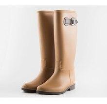 CUWHF Chaussures Bottes à Hauteur Du Genou Femmes De Mode Femmes de Pluie  En Caoutchouc Bottes 1c4c0e013fb9