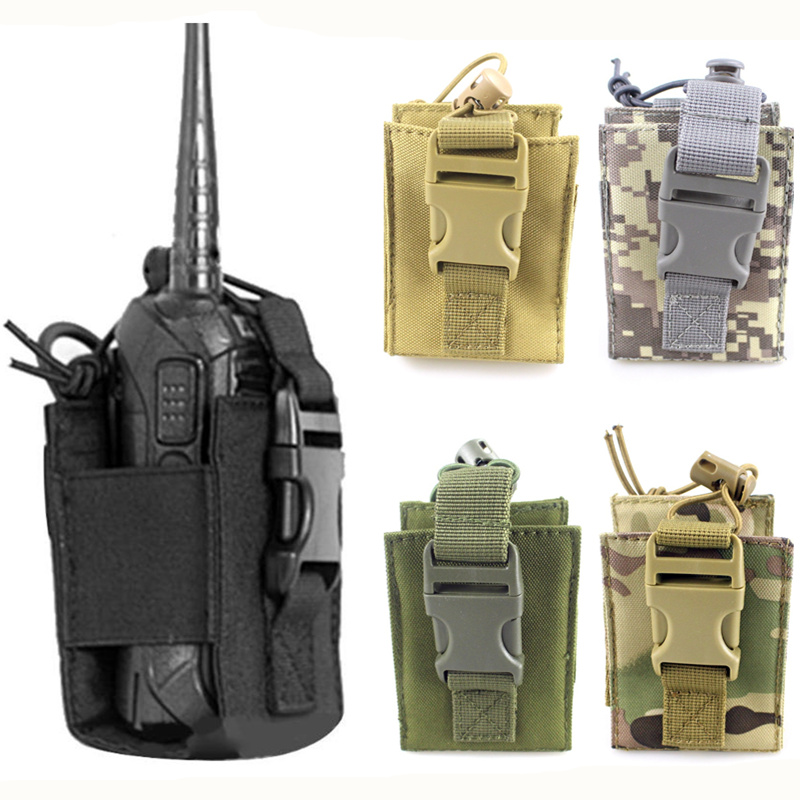 CQC Military Airsoft Tactical Molle Radio Pouch Walkie Talkie Holder Bag Army Shooting Hunting Magazine Mag Pouch