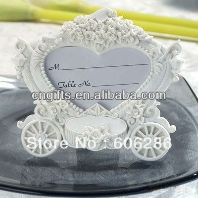 US $156 6 |Wholesale 100pcs/LOT Elegant Wedding Return Gifts Souvenirs of  White Pumpkin Carriage Photo Frame-in Party Favors from Home & Garden on