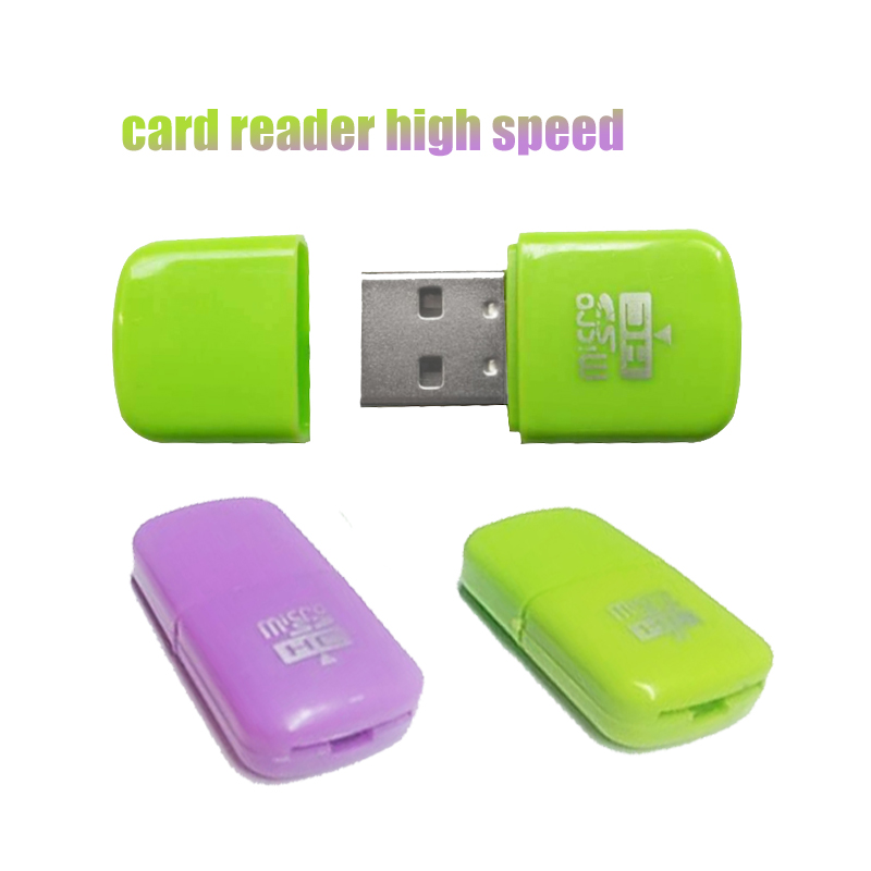 Portable Colorful High Speed USB 2.0 Micro SD Flash TF Memory Card Reader Microsd Transflash To Adapter Fashion