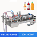 YTK 100-1000ml Double Heads Liquid Pneumatic Filling Machine