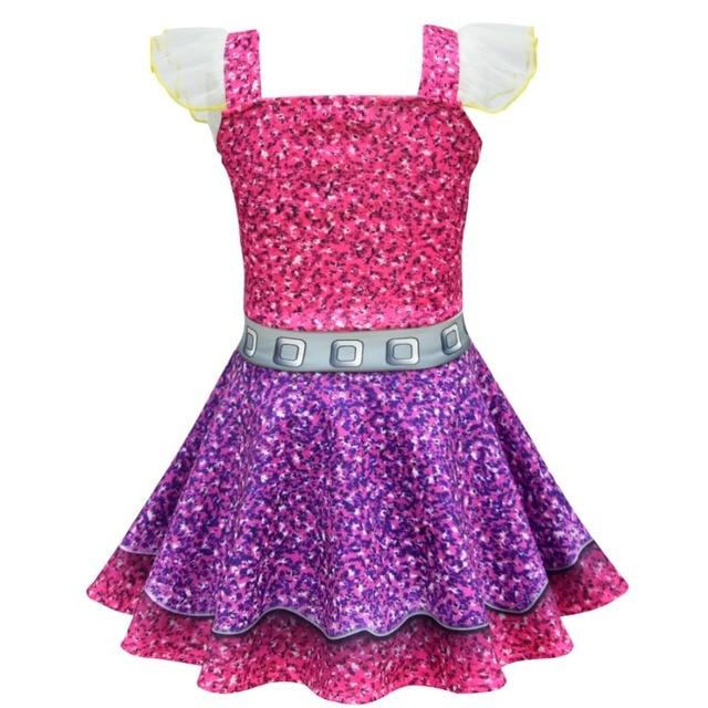 b9c4883ad69d Lol Dress Colorful Girls Dresses 2019 Halloween Christmas Girl ...